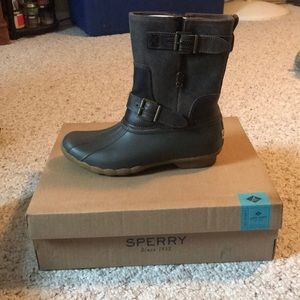 deb053b380 Sperry Shoes - Saltwater Acadia Canteen Sperry Duck Boots